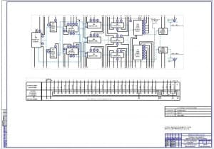 Чертеж функциональной схемы автоматизации установки (формат А1)