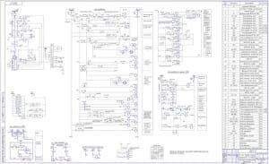 2.Чертеж схемы элементной двигателя компрессора эл/цеха, компрессорной станции №3, п/ст №23с примечанием: латинское обозначение элементов соответствует русскому обозначению в скобках (формат А1х2)