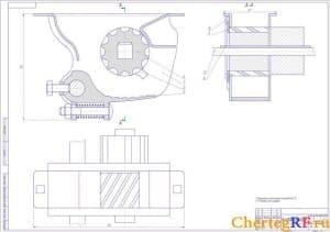 Высеивающий аппарат сеялки (формат А1)