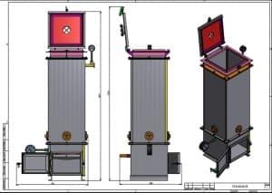 2.Чертеж сборочный газогенератора с указанными размерами (формат А2)