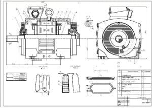 2.Чертеж сборочный двигателя в масштабе 1:2 с перечнем деталей  (формат А1)