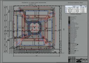 2.Чертеж стройгенплана на основной период строительства в масштабе 1:400, с экспликацией временных зданий: контора, гардеробная с умывальной, сушилка и обогрев, душевая на 6 сеток