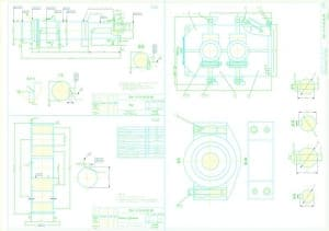 2.Рабочие чертежи деталей вал в масштабе 1:1 (материал: Сталь 45 Г0СТ 1050-88)
