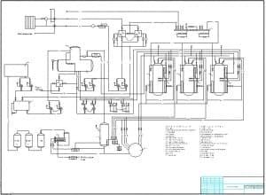 2.Чертеж схемы котельной с приведенным перечнем наименований элементов: водопровод хозяйственно-питьевой