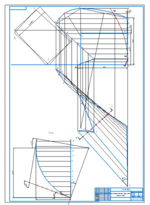 2.Построение рабочей поверхности корпуса плуга А1