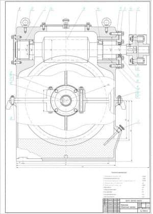 2.Сборочный чертеж редуктора в масштабе 1:1