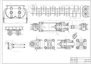 2.Чертеж сборочный бетономешалки С-543