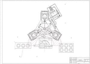 2.Чертеж планировки сверлильного участка (формат А1)