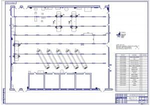 2.Чертеж проектирования освещения зоны ТО и ТР (формат А1)