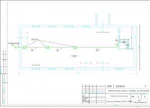 2.Чертеж плана на отметке 0.000м в масштабе 1:100 (формат А3)