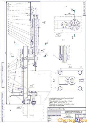 2.Сборочный чертеж головки контроля с размерами и техническими требованиями
