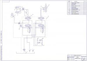 2.Схема гидравлическая модернизируемого электропогрузчика с перечнем элементов