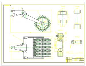 2.Сборочный чертеж рабочего оборудования катка А1