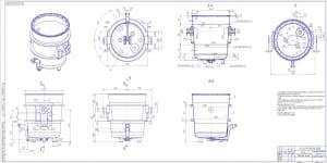 Сборочный чертеж корпуса сталеразливочного ковша