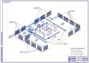 2.Чертеж аммиачной схемы холодильника (формат А1)