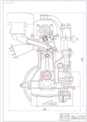 Чертежи четырехтактного бензинового двигателя
