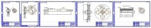 2.Выполнена разработка рабочих чертежей деталей конструкции с размерами, допусками, посадками и шероховатостями