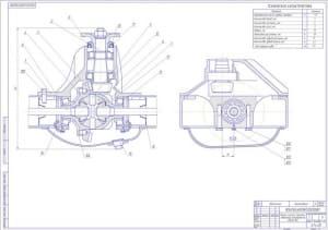 2.Чертеж редуктор легкового автомобиля повышенной проходимости ВАЗ-2121 (формат А1)
