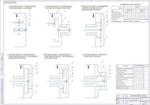2.Чертеж сравнения вариантов схем главных передач (формат А1)