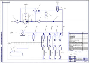 2.Схема пневматической системы подвески (формат А1)