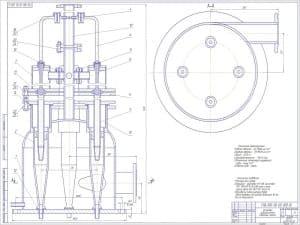 Сборочный чертеж установки гидроциклонной с техническими требованиями