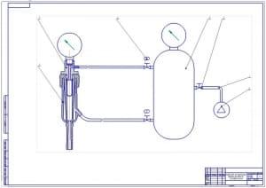 2.Чертеж общего вида конструкции устройства для определения работоспособности сосковой резины (формат А1)
