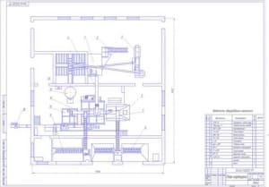 2.План кормоцеха (формат А1) с расстановкой и перечнем-ведомостью оборудования