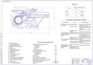 2.Чертеж общего вида кормодробилки КДУ-2 «Украинка» (формат А1)