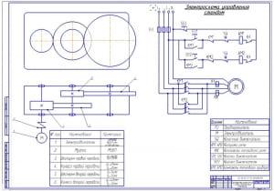2.Электромеханическая схема управления стендом (формат А1)