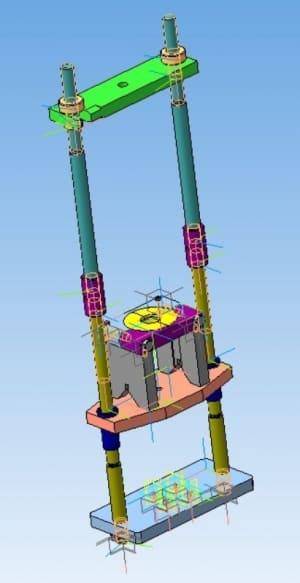 2.3D-модель пресса с гидравлическим приводом и устройством для выпрессовки подшипников