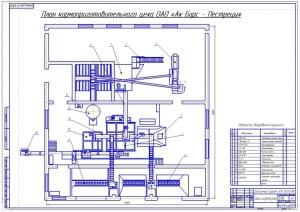 2.Чертеж плана кормоприготовительного цеха (формат А1)