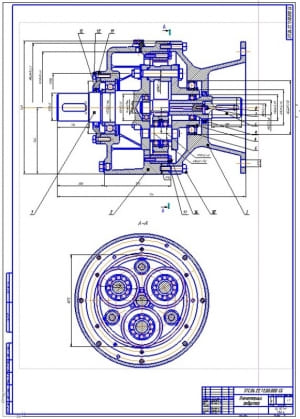 2.Планетарный редуктор стенда в сборе (формат А1)