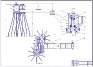 2.Сборочный чертеж секции культиватора (форматА1)
