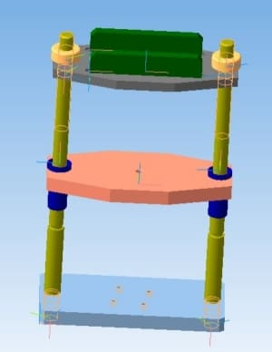 29.3D-модель пресса гидравлического
