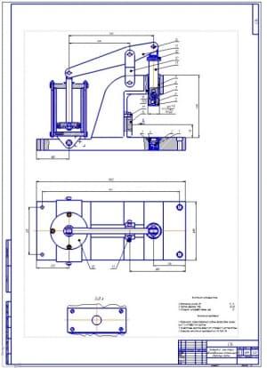 2.Сборочный чертеж конструкции для запрессовки подшипника на коленчатый вал компрессора (формат А1)