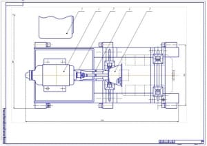2.Общий вид стенда – 2 лист, вид сверху (формат А1)