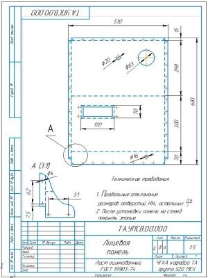 3.Деталь лицевая панель А4