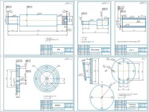 3.Детали: вал, фиксатор, втулка, шайба, поворотная планшайба с указанием допусков, посадок и шероховатостей