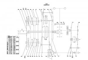 3.Схема кинематическая с указанием диапазона, передачи и скорости