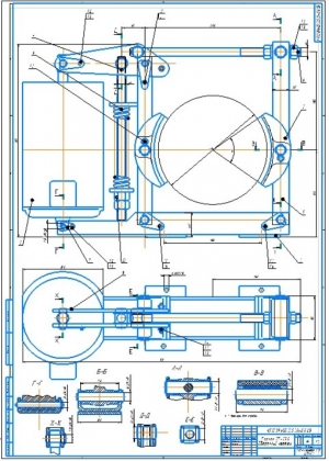 3.Рабочий чертеж тормоза ТТ-200 А1
