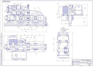 3.Сборочный чертеж механизма перемещения крана башенного с неповоротной башней и подъемной стрелой (формат А1)