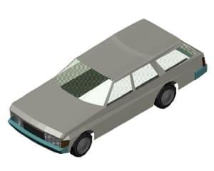 3.Общего вида чертеж автомобиля легкового в 3D формате
