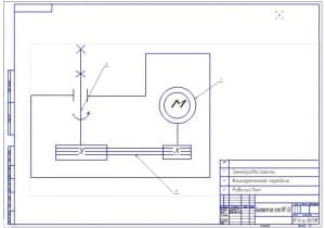 3.Кинематическая схема МПР-350 (формат А2) с указанием электродвигателя, клиноременной передачи и рабочего вала Чертежи выполнены для ЛГТА.