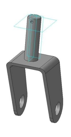 детали вилка в 3D формате
