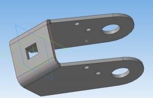 32.Моделирование вилки колеса в 3D