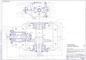 3.Сборочный чертеж редуктора конического одноступенчатого