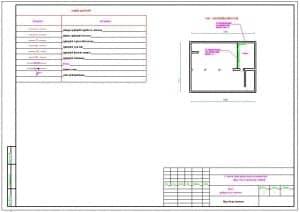3.Чертеж общих данных (окончание) с компоновочной схемой и с условными обозначениями подающего трубопровода горячей воды для отопления