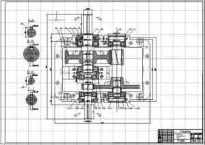 3.Чертеж СБ механизма передвижения крана в масштабе 1:1, в разрезах А-А, Б-Б, В-В и Г-Г (формат А1)