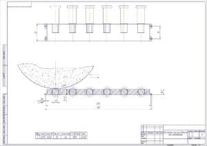 3.Сборочный чертеж кассетного приспособления для шлифования в масштабе 1:1 (формат А2)