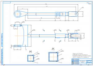 3.Сборочный чертеж рамы рабочего органа А1